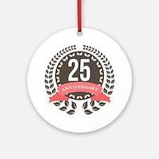 25 Years Anniversary Laurel Badge Ornament (Round)