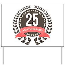 25 Years Anniversary Laurel Badge Yard Sign