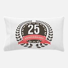 25 Years Anniversary Laurel Badge Pillow Case