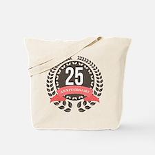 25 Years Anniversary Laurel Badge Tote Bag