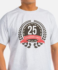 25 Years Anniversary Laurel Badge T-Shirt