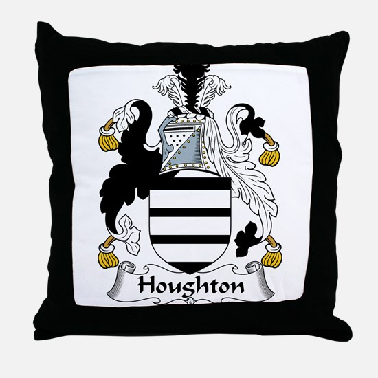 Houghton Family Crest Throw Pillow