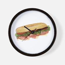 Deli Sandwich Wall Clock
