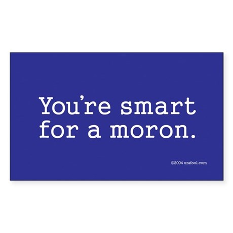 You're Smart For A Moron sticker