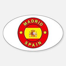 Madrid Sticker (Oval)