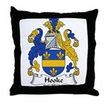Hooke Family Crest Throw Pillow