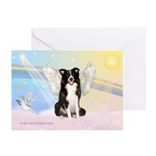 Border Collie Angel Greeting Card