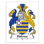 Holmes Family Crest Small Poster