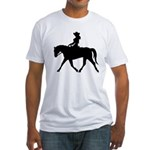 Cute Cowgirl on Horse Fitted T-Shirt