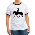 Cute Cowgirl on Horse Ringer T