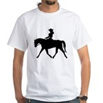 Cute Cowgirl on Horse White T-Shirt