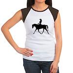 Cute Cowgirl on Horse Women's Cap Sleeve T-Shirt