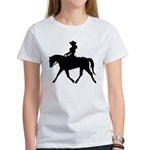Cute Cowgirl on Horse Women's T-Shirt