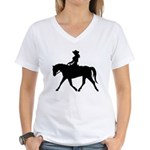 Cute Cowgirl on Horse Women's V-Neck T-Shirt