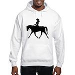 Cute Cowgirl on Horse Hooded Sweatshirt