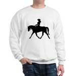 Cute Cowgirl on Horse Sweatshirt