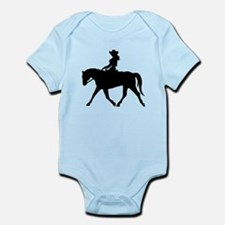Cute Cowgirl on Horse Infant Bodysuit