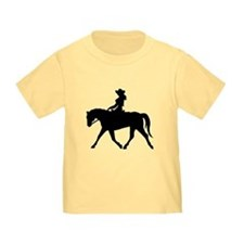Cute Cowgirl on Horse T