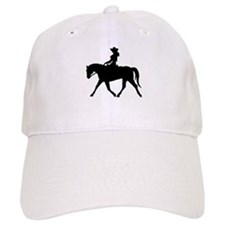 Cute Cowgirl on Horse Baseball Cap