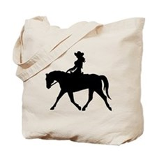 Cute Cowgirl on Horse Tote Bag