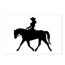 Cute Cowgirl on Horse Postcards (Package of 8)