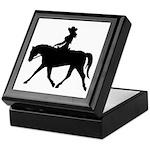 Cute Cowgirl on Horse Keepsake Box