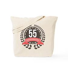 55 Years Anniversary Laurel Badge Tote Bag