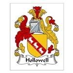 Hollowell Family Crest Small Poster