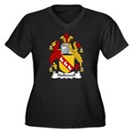 Hollowell Family Crest Women's Plus Size V-Neck Da