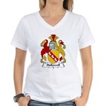 Hollowell Family Crest Women's V-Neck T-Shirt