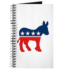 Cute Democrat donkey Journal