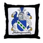 Hollingsworth Family Crest Throw Pillow