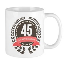 45Years Anniversary Laurel Badge Mug
