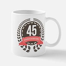 45Years Anniversary Laurel Badge Mug