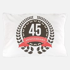45Years Anniversary Laurel Badge Pillow Case