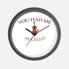You had me at cello Wall Clock