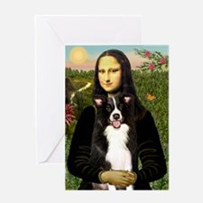 Mona/Border Collie Greeting Card