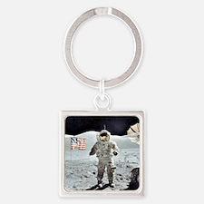 Moon Walk Square Keychain