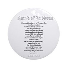 Parents of the Groom Ornament (Round)