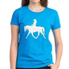 Cute Cowgirl on Horse Tee