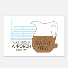 Porch and sweet tea Postcards (Package of 8)