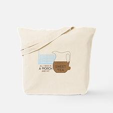 Porch and sweet tea Tote Bag