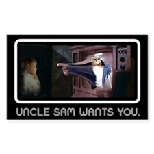 Uncle Sam Rectangle Decal
