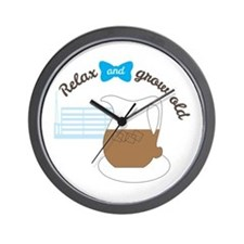 Retirement relax grow old Wall Clock