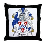 Hoggart Family Crest Throw Pillow