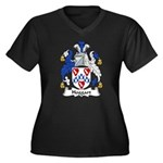 Hoggart Family Crest Women's Plus Size V-Neck Dark