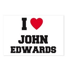 I love John Edwards Postcards (Package of 8)