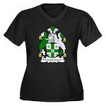 Hodgkinson Family Crest Women's Plus Size V-Neck D