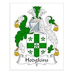 Hodgkins Family Crest Small Poster