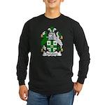 Hodgkins Family Crest Long Sleeve Dark T-Shirt